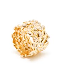 Natasha Collis | Metallic 18kt Rose Gold And White Diamond Cobble Ring | Lyst