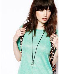 ASOS - Black Ankh Pendant Necklace - Lyst