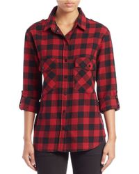Sanctuary | Black Plaid Boyfriend Shirt | Lyst