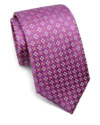 Charvet - Purple Small Pattern Silk Tie for Men - Lyst
