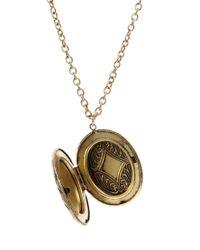ASOS - Metallic Vintage Style Locket Necklace - Lyst