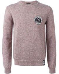 Raf Simons - Purple Chest Patch Crew Neck Sweater - Lyst