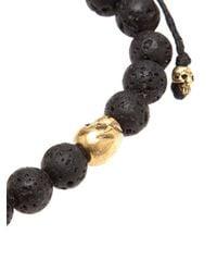 M. Cohen - Black Lava Stone Bracelet for Men - Lyst