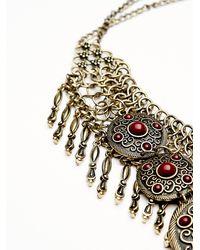 Free People - Metallic Anja Statement Collar - Lyst