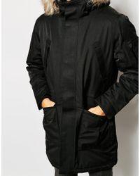 SELECTED - Black 100% Waterproof Parka for Men - Lyst