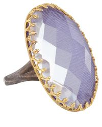 Larkspur & Hawk | Blue White Topaz Emma Ring | Lyst