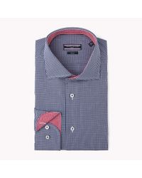 Tommy Hilfiger | Blue Cotton Poplin Fitted Shirt for Men | Lyst