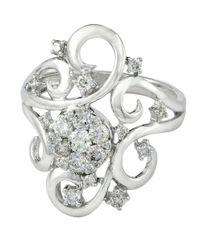 Effy | Metallic Diamond And 14k White Gold Ring, 0.72 Tcw | Lyst