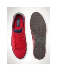 Polo Ralph Lauren - Red Canvas Harvey Sneaker for Men - Lyst