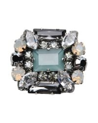 Rada' | Green Crystal Brooch | Lyst