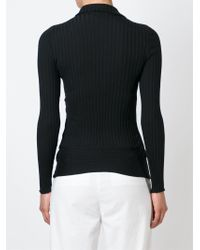 Stella McCartney - Black Refined Ribs Turtleneck Sweater - Lyst