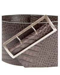 Haider Ackermann - Gray Wide Belt - Lyst