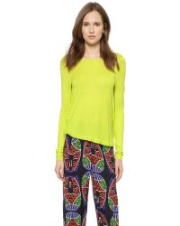 Zero + Maria Cornejo - Yellow Long Sleeve Luma Top - Neon - Lyst