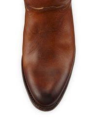 Frye - Brown Deborah Burnished Leather Tall Boot - Lyst