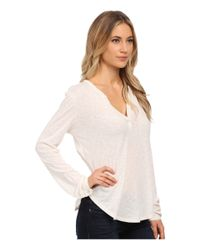 Velvet By Graham & Spencer | Natural Chrishelle Peasant Top | Lyst