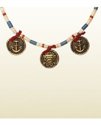 Gucci - Multicolor Multi-colored Beaded Necklace With Pendants for Men - Lyst