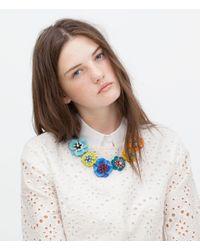 Zara | Multicolored Flower Necklace | Lyst