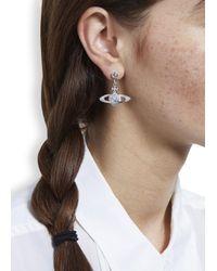 Vivienne Westwood | Metallic Mini Bas Relief Silver Tone Orb Earrings | Lyst