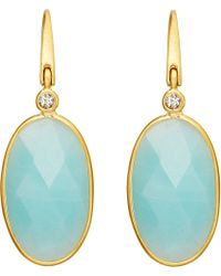 Astley Clarke | Blue Cassini Amazonite Earrings | Lyst