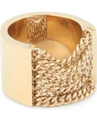 Chloé | Metallic Delfine Draped Chain Ring | Lyst