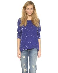 Generation Love | Wendy Oversized Paint Sweater - Dazzling Blue | Lyst