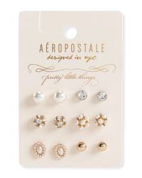 Aéropostale | Multicolor Fireball Stud Earring 6-pack | Lyst