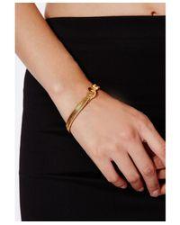 Missguided - Metallic Satinca Slinky Chain Bracelet - Lyst