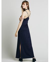 Free People - Blue Intimately Womens She Moves Maxi Slip - Lyst