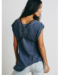 Free People - Black Surrey Harness Vest - Lyst