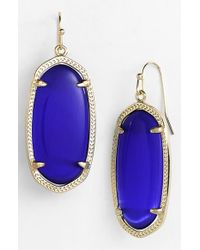 Kendra Scott | Blue 'elle' Drop Earrings | Lyst