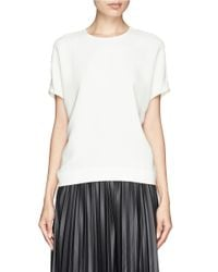 Edition10 - White Ruche Back Crepe Top - Lyst