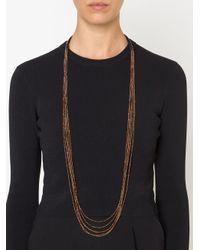 Brunello Cucinelli | Black Beaded Necklace | Lyst