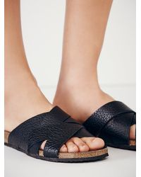 Free People | Black Intentionally Blank Womens Off The Horizon Slide Sandal | Lyst