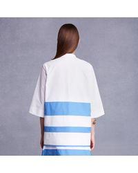 Trademark | Blue Combo Stripe Top | Lyst