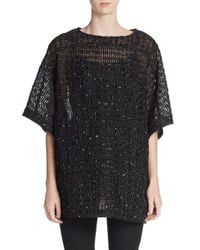 Dries Van Noten - Black Boxy Ribbon Top - Lyst