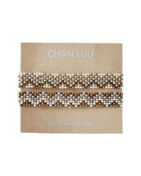 Chan Luu - Metallic 2 Pack Beaded Stretch Bracelet - Lyst