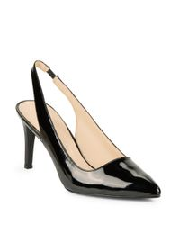 Nine West - Black Fault Leather Pumps - Lyst