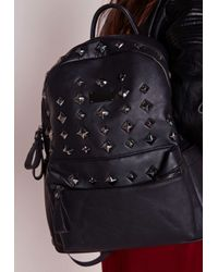 Missguided | Studded Backpack Black | Lyst