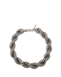 Dries Van Noten | Metallic Braided Necklace | Lyst