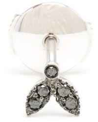 Yvonne Léon   Black Diamond Leaf Stud Earring   Lyst