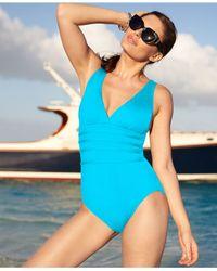 La Blanca | Blue Strappy One-piece Swimsuit | Lyst