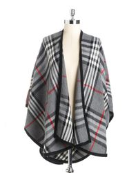 Lord & Taylor | Gray Plaid Shawl | Lyst