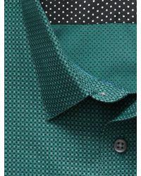 Banana Republic | Green Tailored Slim-fit Non-iron Tri-print Shirt for Men | Lyst