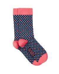 Hobbs - Blue Mini Heart Sock - Lyst