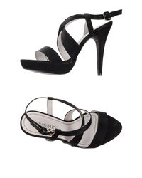 CafeNoir - Black Sandals - Lyst