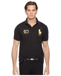 Polo Ralph Lauren | Black Performance Piqué Polo Shirt for Men | Lyst