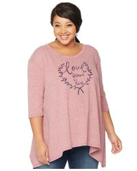 Wendy Bellissimo - Pink Maternity Plus Size Graphic Top - Lyst