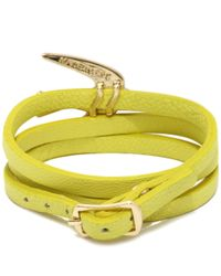 McQ - Yellow Swallow Triple Wrap Bracelet - Lyst