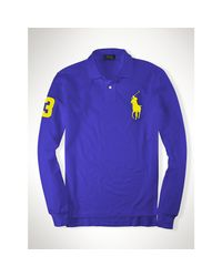 Polo Ralph Lauren | Purple Custom-fit Big Pony Polo for Men | Lyst