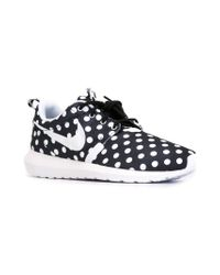 Nike - Black Roshe Polka Dot-Print Sneakers for Men - Lyst